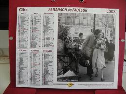 Bise à Paris / Moulin Rouge Paris, Calendrier Almanach Du Facteur - Oller - 2008 - 2 Photos - Calendriers
