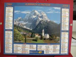 Dolomites, Itale / Courchevel, Savoie, Calendrier Almanach Du Facteur - Oller - 2008 - 2 Photos - Calendriers