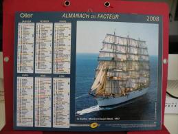 Le Sedov, Monaco Classic Week / La Cancalaise , Calendrier Almanach Du Facteur - Oller - 2008 - 2 Photos - Calendriers