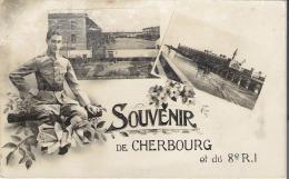 Cherbourg - Souvenir Et 8 Ri - Cherbourg