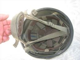 Casque F1  F1 Armée  Française France Cousence DUNOIS 1987 + Couvre Casque Militaire - Casques & Coiffures