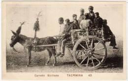 TAORMINA - Carretto Siciliano  - Attelage Ane   (58024) - Unclassified