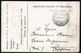 1915 - Italia Italy Italie - Cartolina Postale In Franchigia Militare - Ospedale Da Campo / Postal Stationary - Franquicia