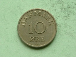 1954 NS - 10 ORE / KM 841.1 ( Uncleaned Coin / For Grade, Please See Photo ) !! - Danemark