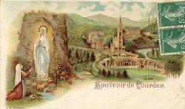 CPA 65 SOUVENIR DE LOURDES  1909 - Lourdes