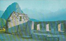 Peru Cuzco Machupicchu Temple Of The Three Windows
