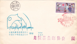 RED CROS 1984 COVER FDC CHINA - 1949 - ... Volksrepubliek