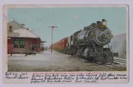 Cpa RENO : Overland Train Atsouthern Pacific Depot Reno , Nevada 1906 - Reno