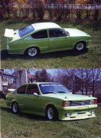 FOTO-Postkarten Vom Eigenen Farbnegativ, Opel Kadett C Coupe, Ungel. 2 AK - Turismo