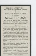 Souvenir Mortuaire Orlans Nestor, Andoy 1921 - Décès