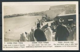Guerra Italo Turca  Arab Chiefs Italian Governor - Italy Turkey War Traldi RP Postcard - Other Wars
