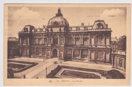 (RECTO / VERSO) AMIENS EN 1933 - N° 46 - LE MUSEE - BELLE FLAMME POSTALE - Amiens