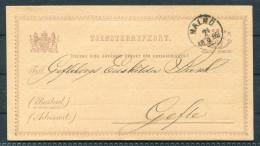1882 Sweden Malmo 6 Ore Stationery Riksbankens - Gefle - Schweden
