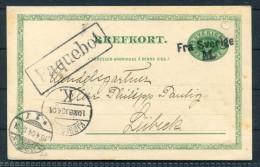 1904 Sweden Copenhagen Lubeck Paquebot Fra Svergie Ferry Stationery Postcard