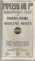 Imperial Oil Ltd Highways Map Of Eastern Canada & Adjacent States - Roadmaps