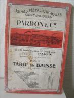 Usines Métallurgiques Saint-Jacques Pardon & Cie. Tarif 1922 - Catalogues