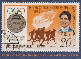 1978 - Asie - Timbre De  Corée  Du Nord  - J.O. De Amsterdam 1928 - 20 Ch. Ahmed El Quafi -