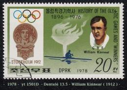 1978 - Asie - Timbre De  Corée  Du Nord  -  J.O. De 1912, Stockolm - 20 Ch.  William Kinnear -