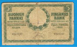 FINLANDIA - FINLAND =  5 Mark 1918  P-36 - Finlandia