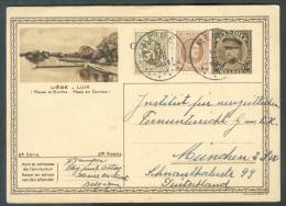 E.P. Carte Ill. 40 Centimes KEPI (illustration LIEGE) + Complément Obl. Sc MEIRE Du 7-VIII-1931 Vers München - 8937 - Ganzsachen