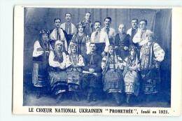 Ukraine : Choeur National Ukrainien Prométhée Fondé En 1921. 2 Scans. - Ukraine