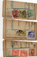 Czechoslovakia Hradcany & Postage Due On Parcel Cut 3pc Cencels Lot #620 - Tchécoslovaquie
