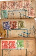 Czechoslovakia Hradcany & Postage Due On Parcel Cut 3pc Cencels Lot #632 - Tchécoslovaquie
