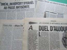 """L' Oréal (Passé """"Collabo"""" & """"Antisémite) : Dossier Composé De 17 Articles Entre 1991 & 2002 - Journaux - Quotidiens"""