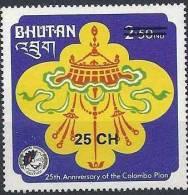 1978 BHOUTAN 522 Q** Plan, Surchargé - Bhutan