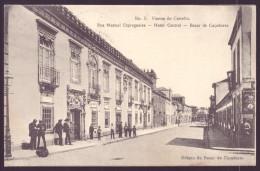 VIANA DO CASTELO / PORTUGAL.Postal Rua Manuel Espregueira. Hotel Central. Loja Bazar De Caçadores. Animado. Old Postcard - Viana Do Castelo