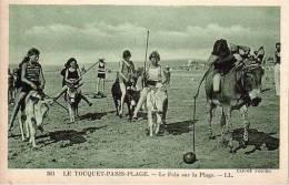 LE TOUQUET PARIS PLAGE LE POLO SUR LA PLAGE CLICHE PECCUE JEUX JEU - Le Touquet