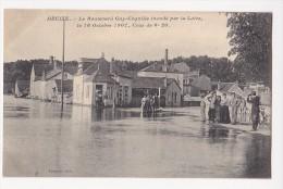 Cpa DECIZE Boulevard Guy Coquille Inondé Par La Loire Crue Octobre 1907 ANIMEE  - Porchery - Decize