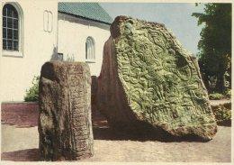 Runic Stones   Runestenene  Jelling   Denmark   # 0387 - Dolmen & Menhirs