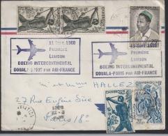 11 Sept 1960, Premiere Liaison Boeing Intercontinental - Poste Aérienne