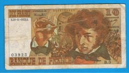 FRANCIA - FRANCE = 10  Francs 1972  P-150  BERLIOZ  Serie B - 1962-1997 ''Francs''