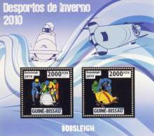 gb10213a-g Guinea Bissau 2010 Winter Olympic Games Bobsleigh Gold s/s