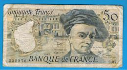 FRANCIA - FRANCE = 50 Francs 1984  P-152 M. Quentin De La Tour - 1962-1997 ''Francs''