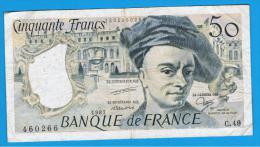 FRANCIA - FRANCE = 50 Francs 1987  P-152 M. Quentin De La Tour - 1962-1997 ''Francs''
