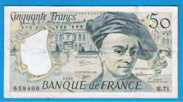 FRANCIA - FRANCE = 50 Francs 1992  P-152 M. Quentin De La Tour - 1962-1997 ''Francs''