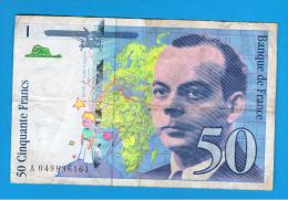 FRANCIA - FRANCE = 50 Francs 1999  P-157    Saint EXUPERY - 50 F 1992-1999 ''St Exupéry''