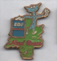 EDF Nord Ouest , Pin's Avec époxy Terni - EDF GDF