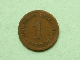 1892 F - 1 PFENNIG / KM 10 ( Uncleaned Coin / For Grade, Please See Photo ) !! - [ 2] 1871-1918: Deutsches Kaiserreich