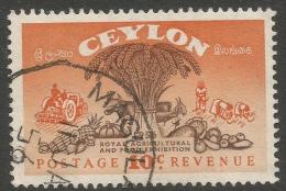 Ceylon. 1955 Royal Agricultural And Food Exhibition. 10c Used. SG 436 - Sri Lanka (Ceylon) (1948-...)