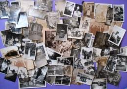 Lot De Plus De 80 Photographies Anciennes Tous Genres, Tous Formats, Voir Description - Personnes Anonymes