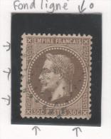 Napoléon III  N° 30a (Variété, Petite Tache Et Filet Absent) Avec Oblitération Losange  TTB - 1863-1870 Napoléon III Lauré