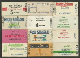 QN249 AUSTRALIA Victoria 12 Tickets South Geelong Richmond Glen Waverley Benalla Ballarat - Railway