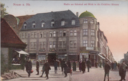 CPA ALLEMAGNE / NEUSS AM RHEIN / PARTIE AM BAHNHOF MIT BLICK IN DIE CREFELDER STRASSE / 1921 - Neuss