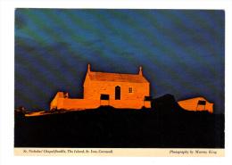 Royaume Uni: St. Nicholas' Chapel Floodlit, The Island, St. Ives, Cornwall (13-2041) - St.Ives