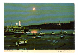 Royaume Uni: St. Ives Harbour, Cornwall, By Moonlight, Phare (13-2042) - St.Ives