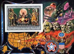 COMOROS 1976 USA BICENTENNIAL Imp S/S MNH Mi.#263(Bl.11B) CV$35.00 SPACE INDIANS COSTUMES PRESIDNTS MONUMENT - American Indians